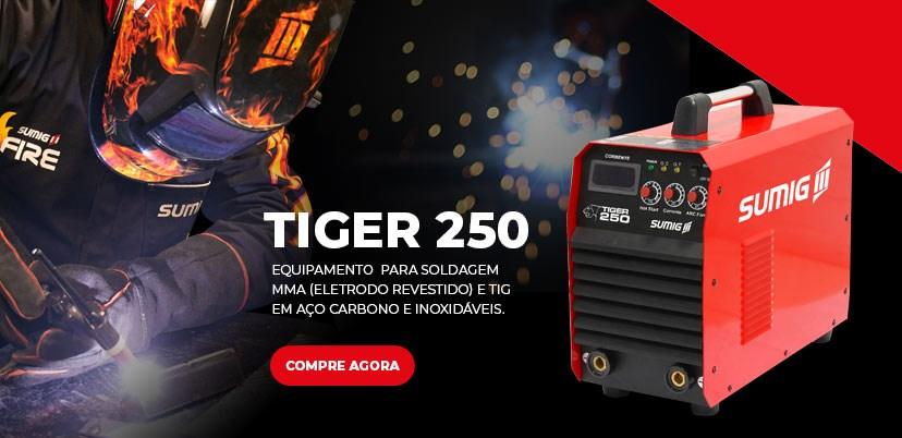 Máquina de Solda TIG Tiger 250 -  Máquina de solda inversora digital e portátil