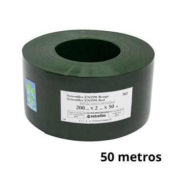 Bobina de cortina em tiras para solda 2mm Verde 20 cm X 50 m (50 METROS)