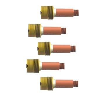 Porta bico difusor super gás lens 3,17 mm rosca grossa (5 UNIDADES)